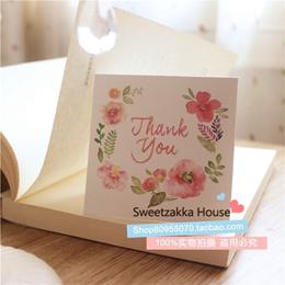 50 South Korean fresh flowers THANK YOU thank you folded cards/gift cards/gift cards/greeting cards