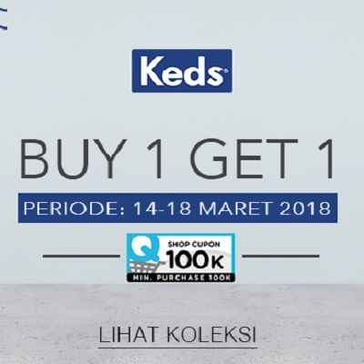 [KEDS 1+1] Women Shoes - Buy 1 Get 1 Free - Promo hanya 5 hari - Free Shipping Jawa