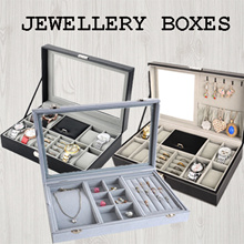 ★[Local Seller] Velvet Ladies Jewelry Box/ Ring Box/Watch Boxes with Jewelry Box