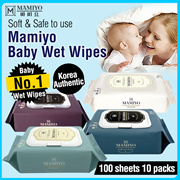 🧡RE-STOCK!🧡 Korea No.1 Wet Wipes / Mamiyo Baby Wet Wipes Cap / Safe for Baby / Harmful Matter zero