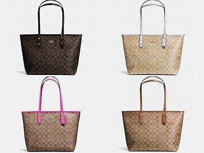 8280cd567130d Qoo10 - Authentic US Coach City Zip Tote Bag In Signature Canvas ...