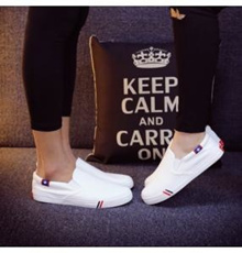 [PRE-ORDER] White Couple Canvas Running Men Shoes |*$$Size||*41||*