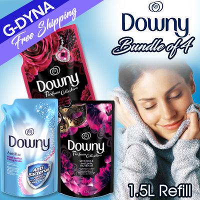 [G-DYNA]Bundle of 4 Downy Fabric Softener 1.5L Refill Deals for only S$45 instead of S$0