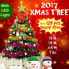 ❆ 0.6m/1.5m/1.8m Xmas Tree ❆ Free LED Light / Decor Acc ❆ Green Pine Christmas Trees❆Artificial Deco