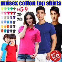 Women Men Girl Boy Kids Cotton Unisex Tops Polo Shirts/Summer Tee/Event Meeting T Shirt