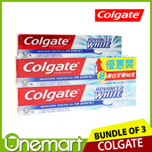 [COLGATE] (2 x 160g   90g) Advanced White Toothpaste
