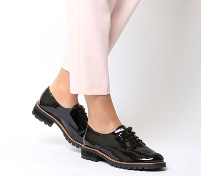 Qoo10 - Office Kennedy Lace Up Shoes Black Patent Leather   Shoes 41ce2a56878