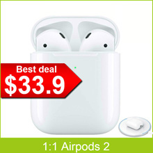New Upgrade PK Apple Airpods 2 1:1  for iPhone IOS Android (Support RenameSupport for Positioning)