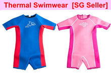 [SG seller]Thermal swimwear kids Thermal swim suit Keep warm Snorkeling diving swim wear 3mm thick
