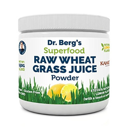 Dr. Bergs Nutritionals Organic Wheat Grass Juice Powder - Raw  Ultra-Concentrated Nutrients - Rich i