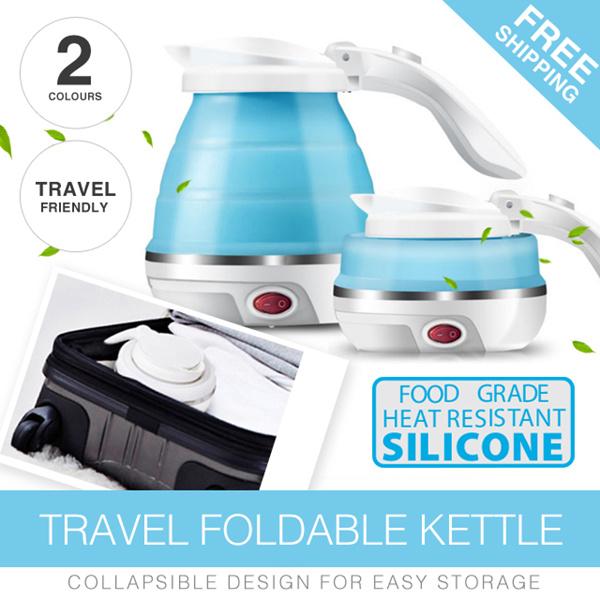 *BestSeller* Travel Foldable Kettle/Insulation electric kettle 0.5L water volume/100V-240V universal Deals for only S$69.9 instead of S$0