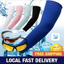 [ KOREA HIT ] Local Fast Delivery! Cooling Athletic Sport Skins Arm Sleeves Sun Protective UV Cover Golf / Sunglasses / Scarf / Sunblock Cool Arm Sleeves / UV Protection /