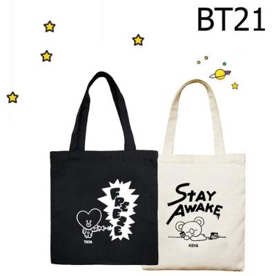6343948c5ba BT21 Cute Canvas Tote bags