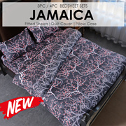 SOL HOMESOL HOME ® 450 Thread Count Bedsheet Set - Jamaica- Height 35cm