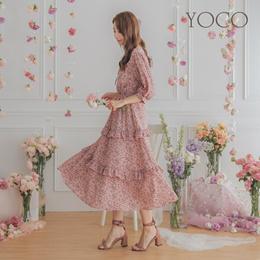 YOCO - Lotus Leaf Level Long Dress-190598