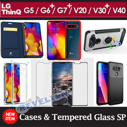 LG V40 G7+ V30S+ V30+ ThinQ G6+ V20 G6 G5 Case Tempered Glass Screen Protector