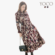 YOCO - Floral Print Maxi Dress-172493-Winter