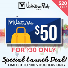 Valentino Rudy $50 Store Voucher at $30 (Join Fellow for Discount Coupon)