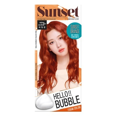 Mise en scene Hello bubble 8O Africa sunset orange
