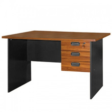 UB Furniture Simple Modern Design Brown Home Office Writing Table With 3 Space Saving Drawers (20007