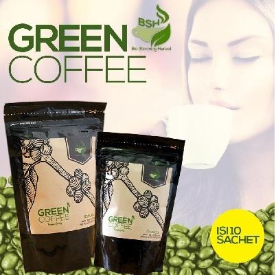 BSH Green Coffee Bean Kopi Hijau Supplemen Kurus Body Slimming Herbal Deals for only Rp56.000 instead of Rp56.000