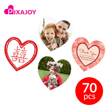 Pixajoy Personalised Love Heart Stickers 70 Pieces (38mm x 38mm)