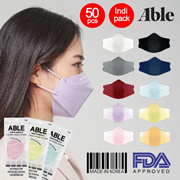 ABLE 3D 4ply Color Mask / 10Color / Indi-pack / 50pcs / KF94 Surgical mask / Made in Korea