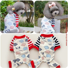 FreeShipping Petco Pet Dog Sleepwear Spring Autumn summer Jumpsuits 100% cotton Cute Cartoon pajama