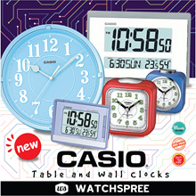 *APPLY 25% OFF COUPON* CASIO TABLE AND WALL CLOCKS! Latest Alarm Clocks Models. Free Shipping!