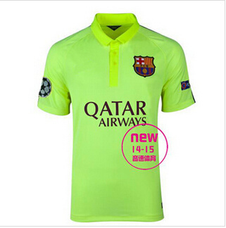 classic fit 30f60 e90cf Barcelona Away Jersey 14-15 second Basa Ou crown green jersey Jersey  Collectors Edition Barcelona sh