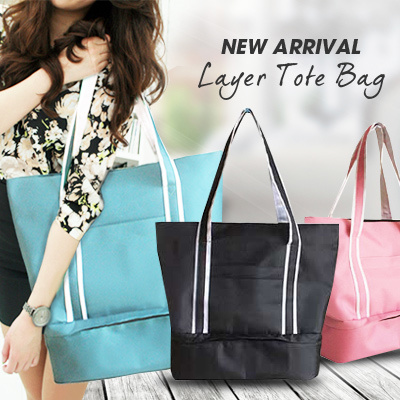 *NEW ARRIVAL* LAYER TOTE BAG!! TRAVEL CABIN TOTE BAG!SEPARATED SPACE TRAVEL TOTE BAG Deals for only Rp150.000 instead of Rp150.000