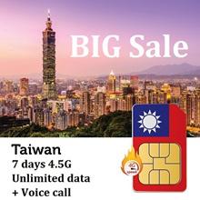 【Taiwan SIM Card】7 Days ❤ 4.5G LTE Unlimited data SIM Card + 100 NTD Voice Call❤ Free SIM Adapter
