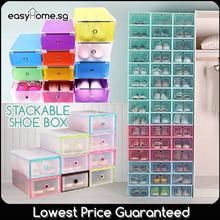 NEW Design Added! Stackable Shoe Box / Storage Shelf Organizer Rack