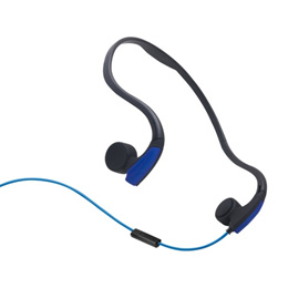 Rear Hanging Wire-Controlled Bone Conduction Outdoor Sports Headphone(Blue)