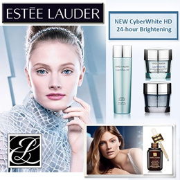 Estee Lauder NEW Cyberwhite Set with Advanced Night Repair Serum -Brightening in 24hrs- *FREE Estee POUCH with every set*