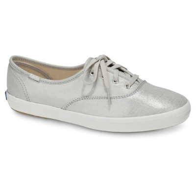 KEDS - KDZ-WF57956-CHAMPION METALLIC LINEN.Silver. WOMEN SHOES KDZ0002447.C1934