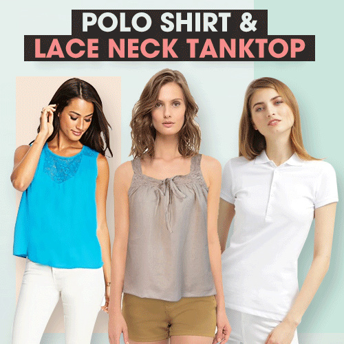 New Collection Branded Women Polo T-Shitrs/Man T-Shirts/Branded T-Shirts Deals for only Rp35.000 instead of Rp35.000