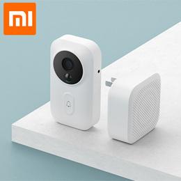 Xiaomi mijia智能门铃wifi摄像头视频对讲无线门最新的红外ai人脸识别办公室家用