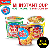 Get 6 pcs _ Pop Noodle _ Mi instant cup _ Most favorite in indonesia _ Many variant  _ Flat Price
