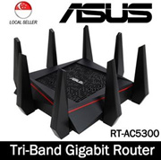 ASUS RT-AC5300 Wireless AC5300 Tri-Band Gigabit Router AiProtection w Trend Micro Complete Network S