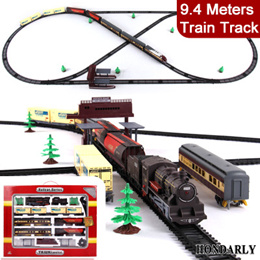Long Steam Train 9.4 Meters Train Track electric toy trains for kids Truck for boys Railway Railroad
