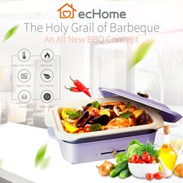 ecHome 1200W Compact Multi-Functional Hot Plate Pancake/ Grill/ Takoyaki/ Flat/