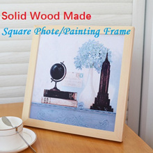 Square Photo/Painting Frame 5 in/6 in/7 in/8 in/10 in Solid Wood Made Photo Frame Home Decoration Hanging on Wall