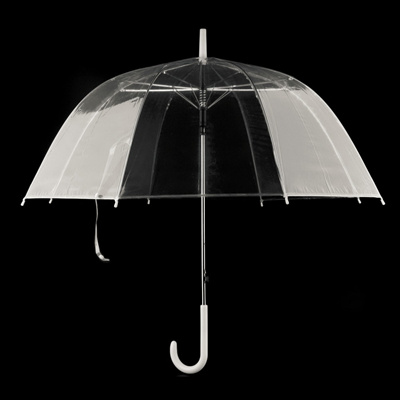 52908076a Large Clear Dome See Through Umbrella Handle Transparent Walking Brolly  Ladiy Windproof Out Rain Pro