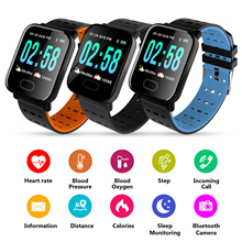 Blood Pressure Smartwatch Fitness Tracker Watchs Heart Rate Monitor Waterproof IP67 Touch Screen
