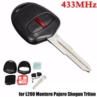Remote Key 2BTN 433MHz ID46 Uncut Blade For Mitsubishi L200 Shogun Pajero  Montero Triton MIT8