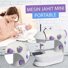MESIN JAHIT MINI PORTABEL FREE PEDAL DAN ADAPTOR  | MINI SEWING MACHINE PORTABLE LS202