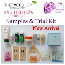 (Etude House) (The Face Shop) (Cosrx) Samples- Toner /Cleam /Cleanser /Sun cream /Whitening Essence