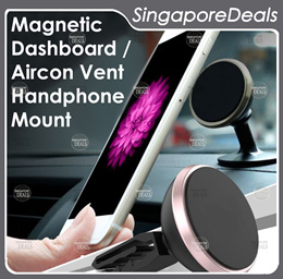MAGNETIC CAR HANDPHONE PHONE HOLDER DASHBOARD AIRCON AIR VENT MOUNT ATTACHMENT 2IN1 CA2