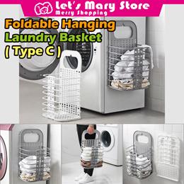 ◆ Foldable Hanging Laundry Basket ◆ Laundry Basket/ Washing machine rack / bathroom organ